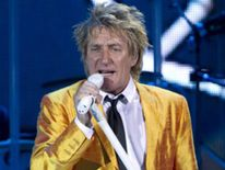British pop star Rod Stewart