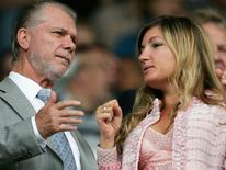 West Ham chairman David Gold with vice-chairman Karren Brady