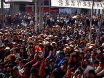 Wukan villagers taking part in protests more than four years ago