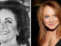 Elizabeth Taylor And Lindsay Lohan