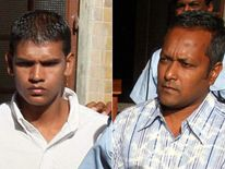 Avinash Treebhoowoon and Sandip Moneea, defendants in murder trial of Michaela McAreavey