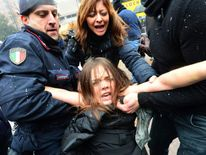 Berlusconi Protest