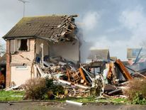 Essex fire service image of the explosion