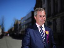 UKIP Leader Nigel Farage Campaigning In South Shields
