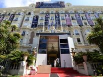 The Carlton Hotel in Cannes on the eve of the 66th Cannes Film Festival in 2013