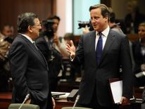 David Cameron and Jose Manuel Barroso in Brussels