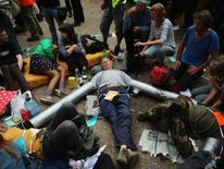 Protestors Intend Day Of Disobedience At Anti Fracking Camp