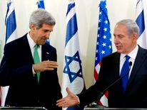 US Secretary of State John Kerry And Israeli Prime Minister Benjamin Netanyahu