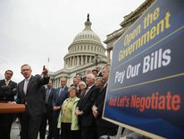 Harry Reid joined by Senate Democrats on Day Nine of the shutdown