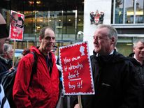 Protests against Royal Mail privatisation
