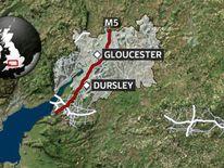 Coach crash on M5 motorway near Dursley
