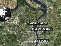 Map of St Louis shootings locations