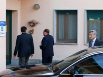 Former Italian PM Berlusconi enters the Sacred Family Foundation in Cesano Boscone