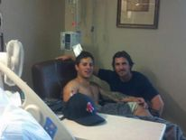 CHRISTIAN BALE Visits Victims Of Aurora Colorado Shooting In Picture Posted By Carey Rottman