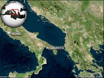 Map Showing Taranto In Italy Where Tornado Hit