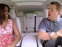 Michelle Obama and James Corden