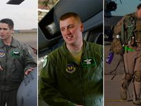 Capt Sean Ruane, Tech Sgt Dale Mathews and SSgt Afton Ponce