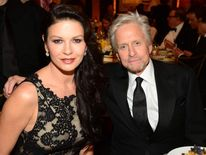 Catherine Zeta-Jones (L) and Michael Douglas