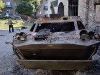 Violence in the eastern Ukrainian city of Lisichansk, Lugansk region