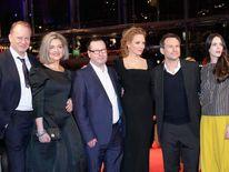 Stellan Skarsgard, Bente Trier, Lars von Trier, Uma Thurman, Christian Slater and Stacy Martin