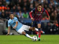 Brazilian footballer Neymar.