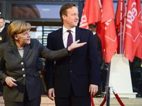 David Cameron and Angela Merkel.