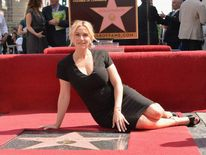 Kate Winslet receives her Hollywood star