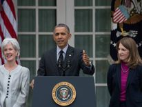 President Obama introduces Sylvia Mathews Burwell as the new Health and Human Services Secretary.