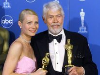 Actress Gwyneth Paltrow (L) and actor James Coburn