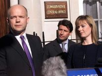 Conservative leader William Hague delivers his 2001 resignation speech