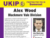 UKIP candidate Alex Wood's campaign leaflet