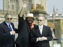 The Three Tenors Placido Domingo, Luciano Pavarotti and Jose Carreras in Bath 2003.