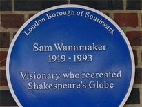 Sam Wanamaker plaque