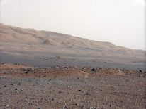 Martian landscape as seen by the Curiosity rover (Nasa/JPL-Caltech/MSSS)