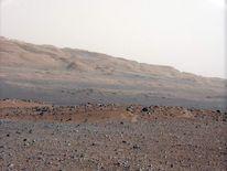 Martian landscape as seen by the Curiosity rover (Nasa/JPL-Caltech/MSSS)