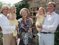 Queen Beatrix with her son Willem-Alexander and his family.