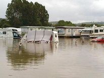 Flooding at the Aberystwyth Holiday Park