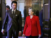Secretary Of State Hillary Clinton Meets With Nat'l Sec. Adviser of Libya