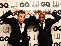 Mo Farah And Robbie Williams At GQ Awards