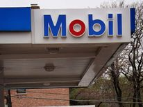 Mobil petrol station in Chiocago