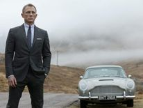 "Daniel Craig as James Bond in the latest film, ""Skyfall."""