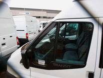Ford Transit vans at the Ford Assembly Plant in Southampton
