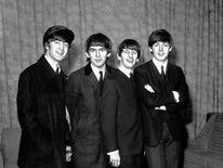 Members of The Beatles seen in February 1964