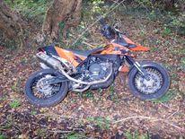 Abandoned motorbike