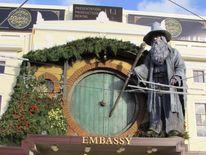 Hobbit statue Wellington, New Zealand