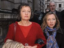Pat Finucane's widow Geraldine and her daughter Katherine