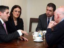 Theresa Villiers Lord Mayor Gavin Robinson Glynn Roberts