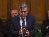 Gordon Brown speaks in Commons