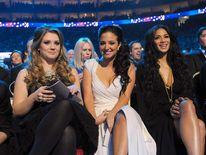 Ella Henderson, Tulisa Contostavlos and Nicole Scherzinger