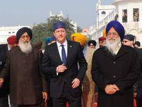 David Cameron at the Golden Temple at Amritsar